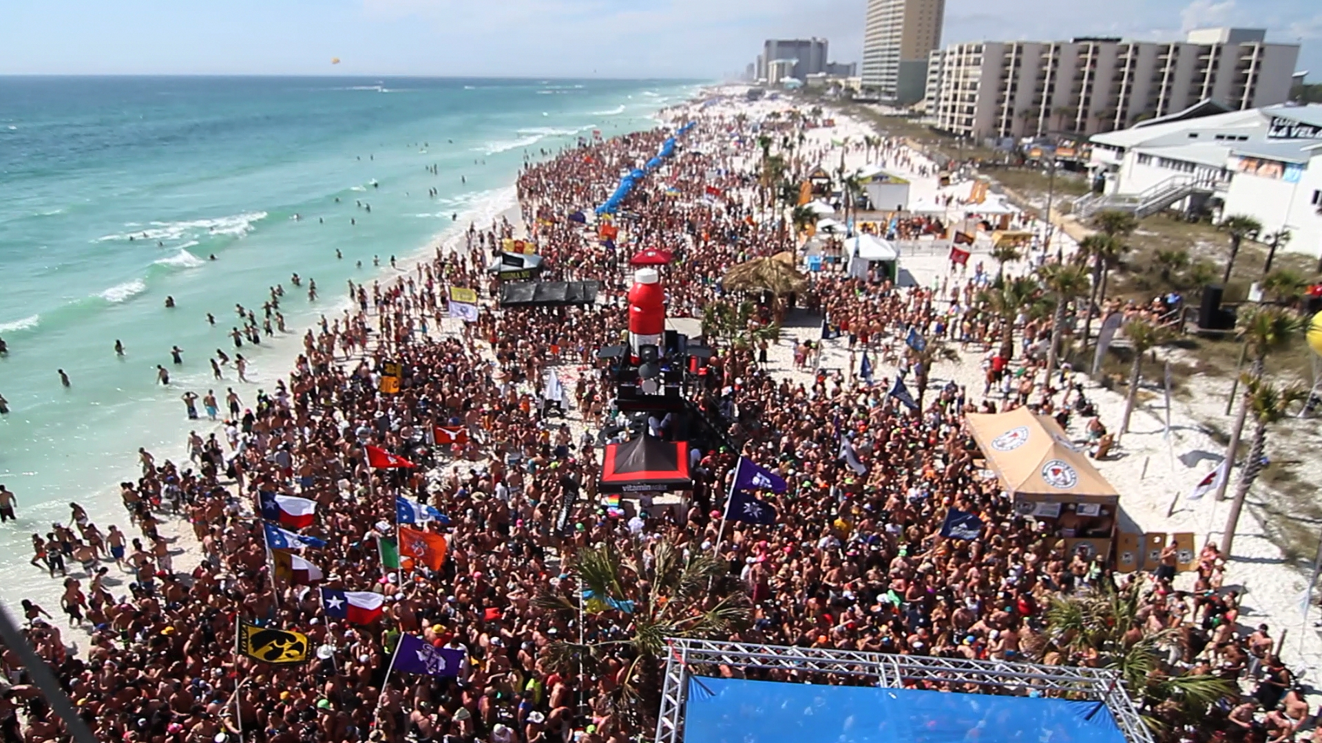 College Students In Panama City Beach For Spring Break